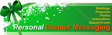 Learn more about plane banners for weddings, proposals, parties, celebations, and special events.